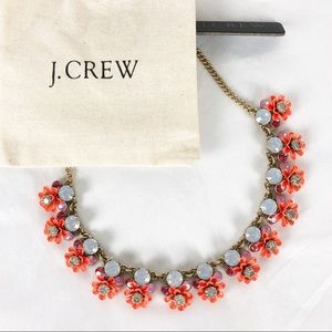 NWT J Crew Blooming flowers statement necklace